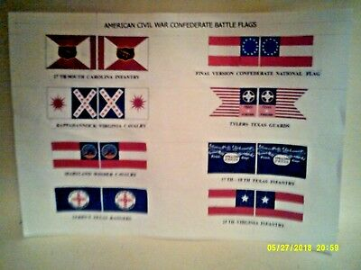 £2.50 • Buy ( New )   American  Civil War    Flags    Eight  Assorted   Approx  1/32