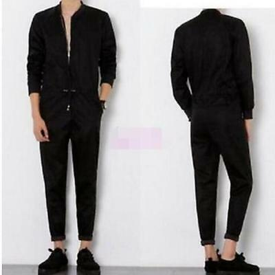 $47.39 • Buy FAShion Long Sleeve Mens Jumpsuits Suit Trousers Overalls Skinny Club Pants Sz