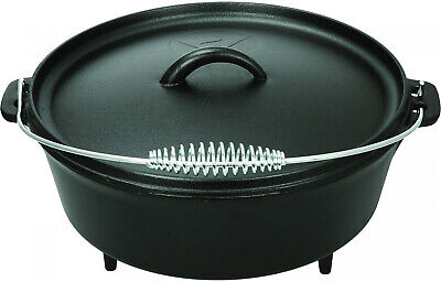 $ CDN36.50 • Buy 5 Quart Dutch Oven Lid Pre Seasoned Cast Iron Pot Bake Fry Stew Top Quality NEW