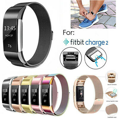 $ CDN10.71 • Buy For Fitbit Charge 2 Band Stainless Steel Small Large Metal Milanese Magnet Strap