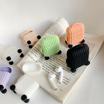 $ CDN3.24 • Buy Cute Suitcase Soft Silicone Dustproof Protective Case Cover For Apple Airpods Co