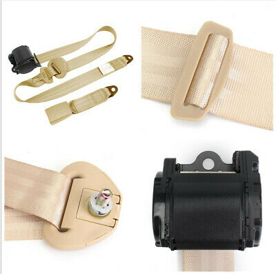 $42.25 • Buy High Strength Polyester 3 Point Beige Safety Seat Belt For Car Driver Front Seat