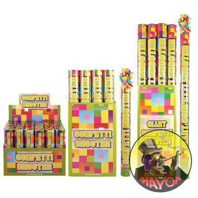 £4.95 • Buy 20 50 80cm Party CONFETTI Cannons Poppers Shooter Wedding New Years Large Giant