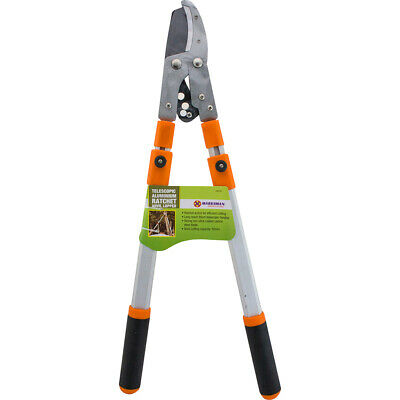 Professional Ratchet Anvil Loppers Pruner With Telescopic Extending Gardening • 13.95£
