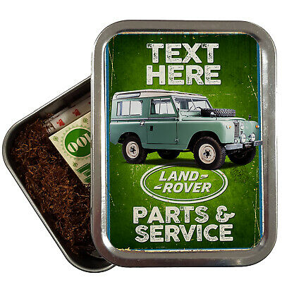 Personalised Land Rover Tobacco Tin Classic Car Mechanic Retro Baccy 2oz OC30 • 8.95£