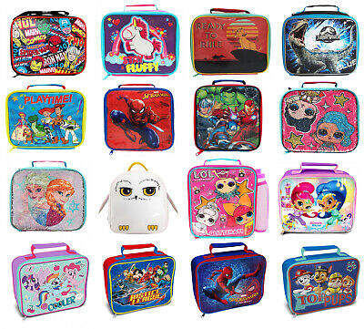Childrens Kids Character Novelty Insulated School Lunch Bag Dinner Food Box • 3.79£