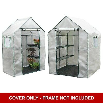 Garden Grow 6 / 12 Shelf PE Spare Cover For Greenhouse - Frame Not Included NEW • 34.99£