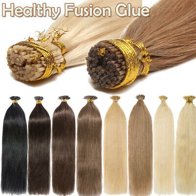 $24.28 • Buy Pre Bonded Stick I Tip 100% Indian Remy Human Hair Extensions Keratin Fusion Tip