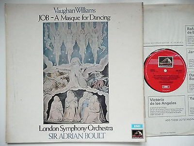 £6.50 • Buy Boult Conducts Vaughan Williams Job - A Masque For Dancing Lso Emi Asd 2673