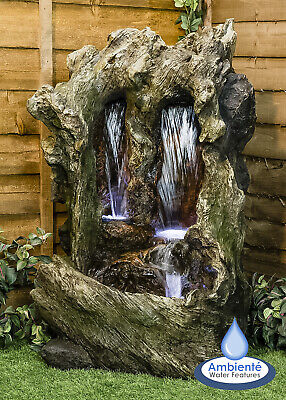 Garden Patio Waterfall Water Feature Colorado Falls Cascade With Lights 1m • 357.99£