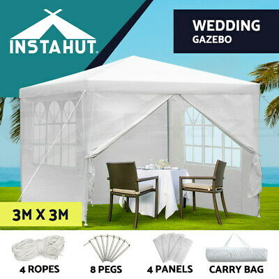 AU69.90 • Buy Instahut Gazebo 3x3 Party Marquee Wedding Canopy Outdoor Gazebos Camping White