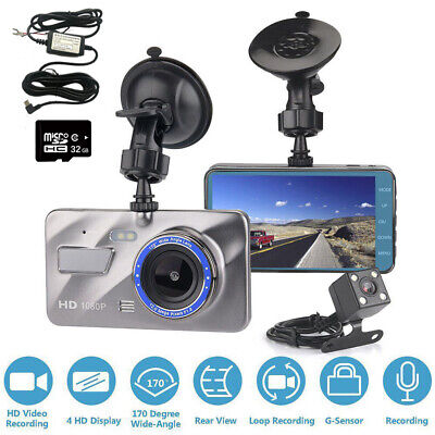4  1080P Dash Cam Front And Rear Camera With 32GB Memory Card And Hard Wire Kit • 34.99£