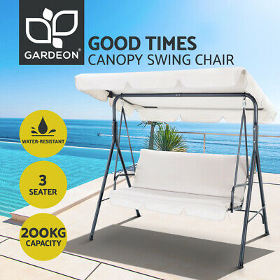 AU137.95 • Buy Gardeon Outdoor Swing Chair Hammock Garden Canopy Bench Seat Cushion Furniture