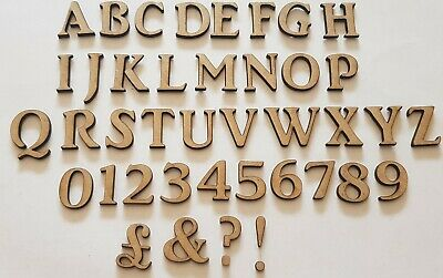 Wooden Letters And Numbers MDF Decoration Card Making Scrapbook Embellisments • 0.99£