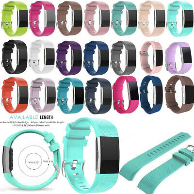 AU3.34 • Buy FOR Fitbit CHARGE 2 Replacement Silicone Rubber Band Strap Wristband Bracelet