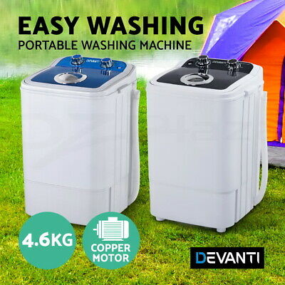 AU109.95 • Buy Devanti Mini Washing Machine Portable Caravan Twin Tub Top Loader Camping 4.6KG