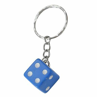 Dice Keyring Blue Colourful Novelty Die Keychain • 2.95£