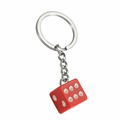 Dice Keyring Red Colourful Novelty Die Keychain • 2.95£