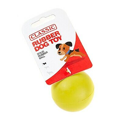 £5.53 • Buy Yellow Small Solid Strong Tough Hard Rubber Dog Treat Ball Fetch Toys