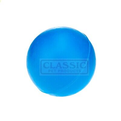 £6.34 • Buy Blue Medium Solid Strong Tough Hard Rubber Dog Treat Ball Fetch Toys