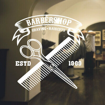 $ CDN44.44 • Buy  Barber Shop Wall Sticker Hipster Beard Graphics Quote Decal Art Bb19