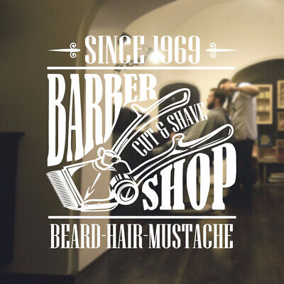 $ CDN34.18 • Buy  Barber Shop Wall Sticker Hipster Beard Graphics Quote Decal Art Bb20