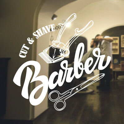 $ CDN34.18 • Buy  Barber Shop Wall Sticker Hipster Beard Graphics Quote Decal Art Bb23