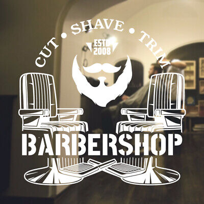 $ CDN34.18 • Buy  Barber Shop Wall Sticker Hipster Beard Graphics Quote Decal Art Bb28