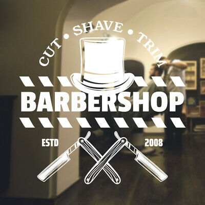 $ CDN44.44 • Buy  Barber Shop Wall Sticker Hipster Beard Graphics Quote Decal Art Bb29