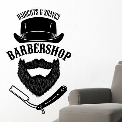 $ CDN68.38 • Buy Barber Shop Wall Sticker Hipster Beard Graphics Quote Decal Art Bb48