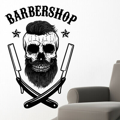 $ CDN34.18 • Buy Barber Shop Wall Sticker Hipster Beard Graphics Quote Decal Art Bb38
