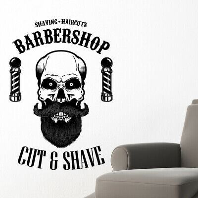 $ CDN34.18 • Buy Barber Shop Wall Sticker Hipster Beard Graphics Quote Decal Art Bb37
