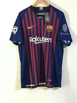 cfc3df79769 Lionel Messi Barcelona New UCL Home Jersey 18/19 Large 2-3 Day Shipping