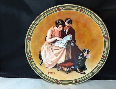 $ CDN10.19 • Buy Norman Rockwell Plates Edwin Knowles. A Couples Commitment. Plate 6227E