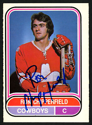 $19 • Buy Ron Chipperfield Autographed Signed 1975-76 WHA OPC Card Calgary Cowboys 151391