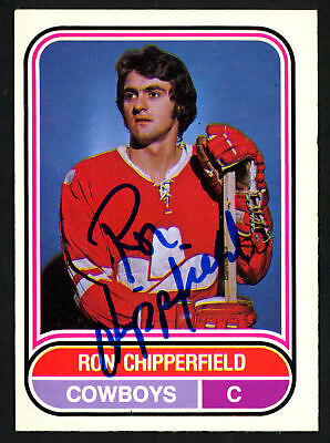 $19 • Buy Ron Chipperfield Autographed Signed 1975-76 WHA OPC Card Calgary Cowboys 151392
