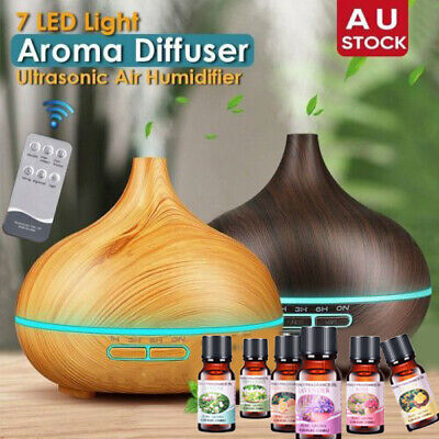 AU13.29 • Buy 550ml Air Humidifier Purifier Essential Oil Diffuser Aroma Aromatherapy Lamp LED