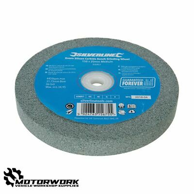 150mm X 20mm Green Silicon Carbide Tungsten Tool Bench Grinding Wheel 46 Grit • 10.10£