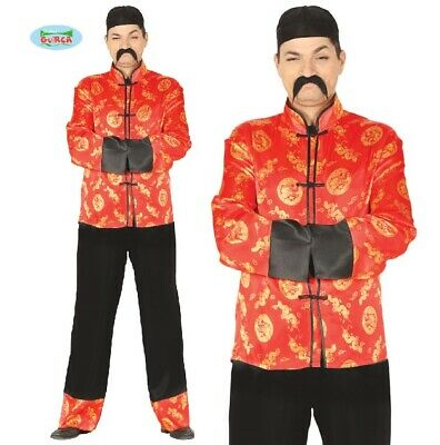 £20.99 • Buy Mens Chinese Fancy Dress Costume Oriental China Type Book Outfit New Fg