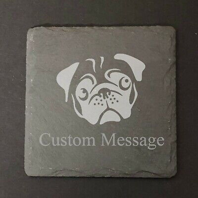 Personalized Custom Engraved Slate Coaster Gift • 8.99£