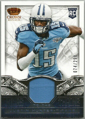 $4.95 • Buy 2013 Crown Royale ~ JUSTIN HUNTER Jersey/Relic #16 Titans #074/299 RC