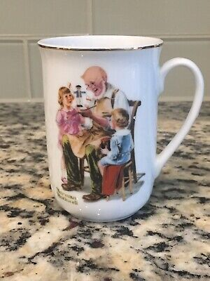 $ CDN44.17 • Buy Norman Rockwell Museum Mug Cup The Toymaker 1982 Seal Of Authenticity Vintage