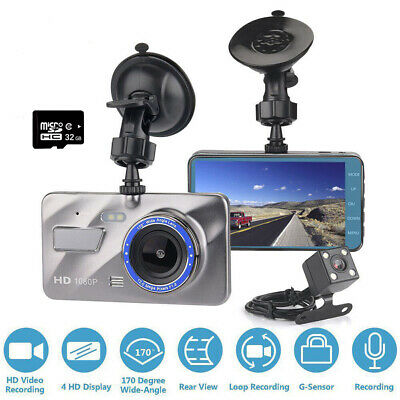 4  1080P Dash Cam Front And Rear Camera With 32GB Memory Card G-Sensor UK Seller • 30.99£