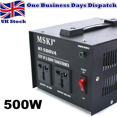 500W Voltage Converter Transformer Step Up/Down 220V-110V UK To US US To UK • 21.50£
