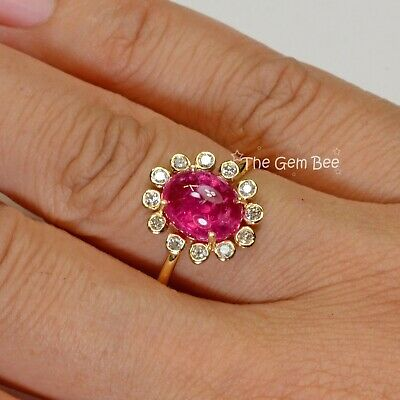 $995 • Buy 2.63CT 18k Solid Yellow Gold Fine Natural Mahenge Spinel Diamond Ring Size 6