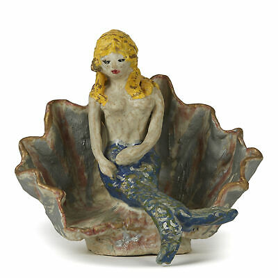 Studio Pottery Mermaid Manner Of Quentin Bell 20th C. • 550£