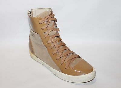 AU90 • Buy K Jacques USA Brand Camel Suede Leather Patent Lace Up Sneaker Boots Size 10-11