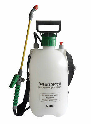 5l Garden Pressure Sprayer Portable Hand Pump Chemical Weed Spray Bottle • 10.89£