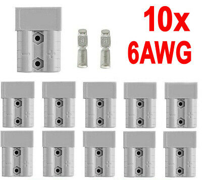 AU15.93 • Buy 10x Anderson Style Plug Connectors DC Power 50 AMP 12-24V 6AWG
