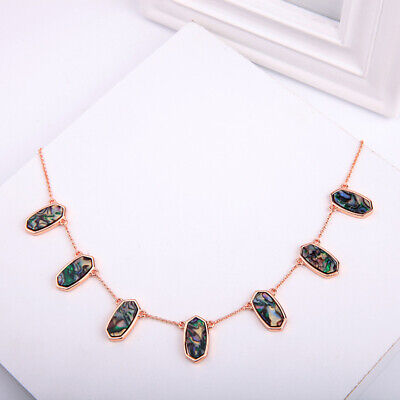 AU11.28 • Buy Colorful Oval Pendant Choker Necklace For Women Brand Statement Chokers Jewelry
